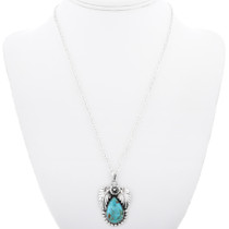 Turquoise Pendant With Chain 29438