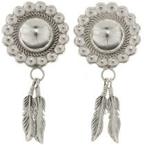 Silver Concho Dangle Earrings 26537