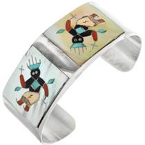 Inlaid Zuni Kachina Bracelet 28019