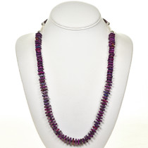 Purple Turquoise Heishi Necklace 28709
