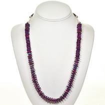 Purple Turquoise Heishi Necklace 28709