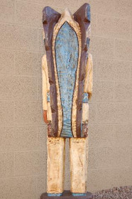 Five Foot Tall Indian Wood Sculpture 34003
