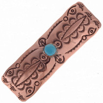 Copper Turquoise Hair Barrette 24409