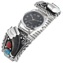 Bear Claw Turquoise Sterling Watch 24453