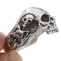 Navajo Sterling Skull Mens Ring 26773