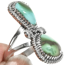 Ladies Turquoise Pointer Ring 28517