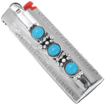 Turquoise Silver Lighter Case 27612