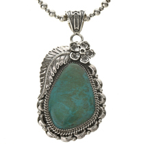 Navajo Turquoise Silver Pendant 28535