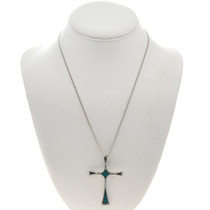 Native American Turquoise Cross Pendant 28513