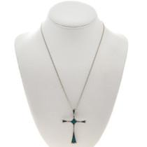 Native American Turquoise Cross Pendant 28513