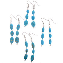 Natural Turquoise Nugget Earrings 28228