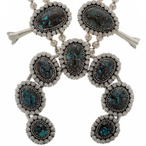 Turquoise Sterling Squash Blossom Set 27667