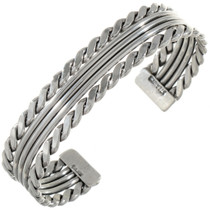Navajo Handmade Silver Cuff 27786