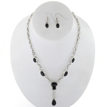 Black Onyx Y Necklace Set 27720