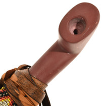 Carved Pipestone Peace Pipe 14234