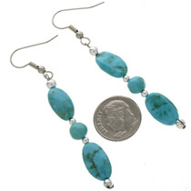 Navajo Design French Hook Earrings 28256
