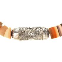 Silver Shell Heishi Native American Choker 22052