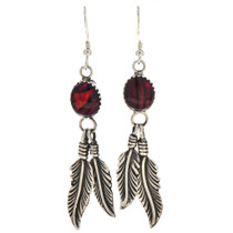 Red Paua Shell Dangle Earrings 29407