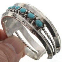 Silver Turquoise Cuff Bracelet 17322