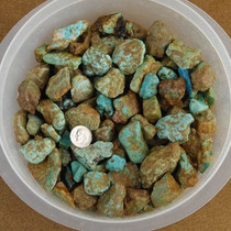 """Mashan Rough Turquoise Nuggets Green to Blue Small 1/4"""" to 1"""" One Pound"""