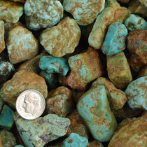 "Mashan Rough Turquoise Nuggets Green to Blue Small 1/4"" to 1"" One Pound 0012"