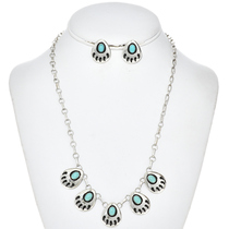 Turquoise Bear Paw Necklace Set26768