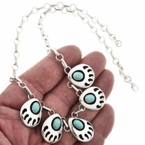 Navajo Bear Paw Necklace 26768