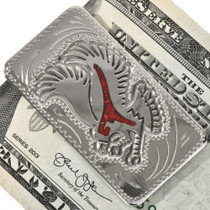 Coral Silver Eagle Money Clip 28984