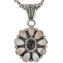 Pretty Pink Shell Onyx Indian Pendant 28879