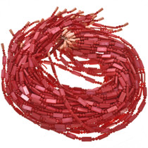 4mm and 6mm Red Pearl Beads 16 inch Long Strand