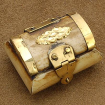 Quality Genuine Bone Treasure Chest Jewelry Gift Box 6