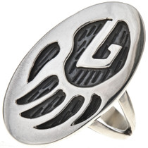 Navajo Bear Paw Ladies Ring 28907