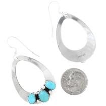 Native American Open Silver Teardrop Earrings 28828