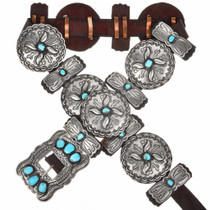 Sleeping Beauty Turquoise Concho Belt 29619