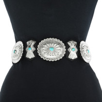 Sleeping Beauty Turquoise Concho Belt 27054