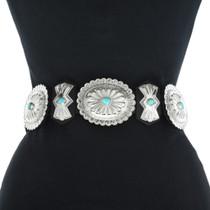 Sleeping Beauty Turquoise Concho Belt 27054