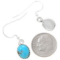 Navajo Turquoise Silver Earrings 28458