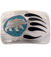 Turquoise Bear Paw Belt Buckle 24612