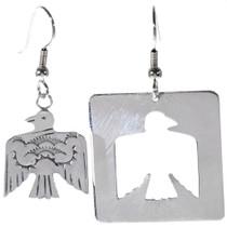 Hammered Silver Dangle Earrings 14459