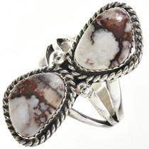 Navajo Wild Horse Silver Ring 29130