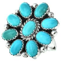 Kingman Turquoise Navajo Ring 27783