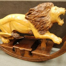MGM Massive Hand Carved Rocking Horse Lion  Life Size