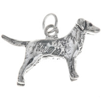 Sterling Silver Dog Golden Retriever Charm