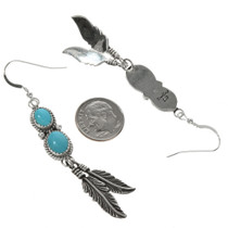 Navajo Two Stone Turquoise French Hooks 29503
