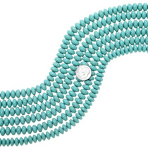 Real Turquoise Rondelle Beads 25522