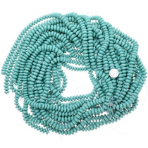 10mm Turquoise Rondell Beads 25522