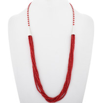 Native American Coral Necklace 17597