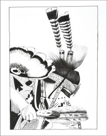 Native American Powwow Dancer Print 21115