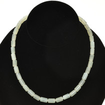 8mm x 10mm New Jade Beads 16 inch Long Strand 1