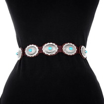 Sleeping Beauty Turquoise Concho Belt 23891